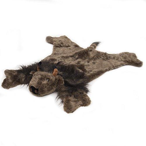Carstens Plush Buffalo Animal Rug, Small