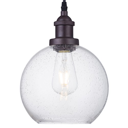 Dazhuan Industrial Vintage Bubble Glass Pendant Light Ceiling Fixture Hanging Lighting