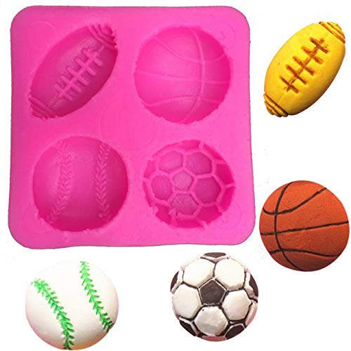 Cake Decorating - 100 Pieces Football Basketball Tennis Cooking Silicone Mold Fondant Sugar Process Diy Cake - Box Recipe Cutters Oxo Leveler And Russian Designs Vines Flowers]()