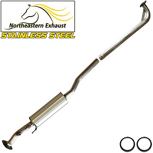 Stainless Steel Resonator Exhaust pipe Fits 97-01 Toyota Camry 99-03 Solara 4 Cylinder ()