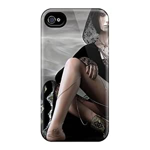 XiFu*MeiAnti-scratch And Shatterproof The Girl With The Black Phone Case For Iphone 4/4s/ High Quality Tpu CaseXiFu*Mei