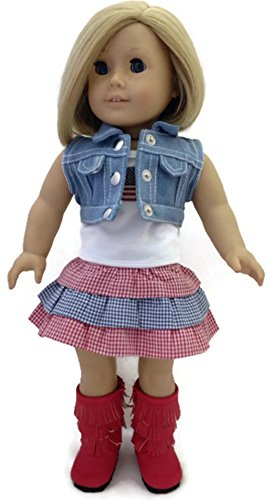 Gingham Denim (18 inch Doll Clothes Fits 18