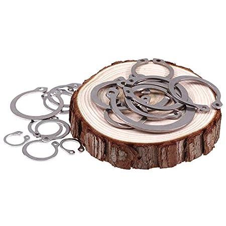Ochoos 30PCS GBGB894 304 Stainless Steel Clamp Spring r Retaining Ring C-Type Retaining Ring M8//9//10//11//12//13 Retaining Rings for Shaft Inner Diameter: M21