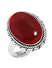 Solid 925 Sterling Silver Gemstone Handmade Ring for Women