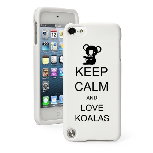 Apple iPod Touch 5th / 6th Generation White Rubber Hard Case Snap on 2 Piece BH741 Keep Calm and Love Koalas