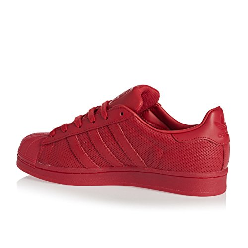 Adidas Originals Superster Adicolor Heren Trainers S80328 Schoenen Van (us 9.5, Scharlaken Rood S80326)