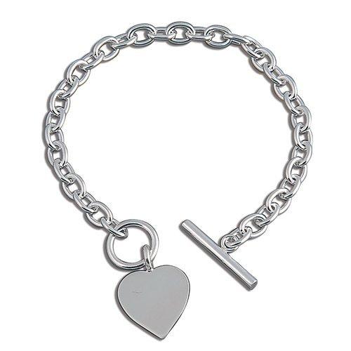 Heart Charm Sterling Silver Bracelet Dp B00hlnqpnk Tiffany Bracelets Uk