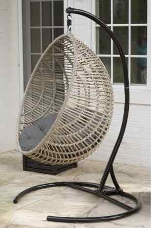 Exceptionnel By Luxury Home Outdoor Patio Swing, Hanging Egg Chair, Cushion And  Stand,Brown