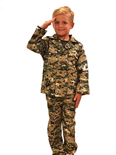 Costume Magic Camo Military Soldier Costume for Boys Halloween (Large)