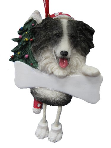 Border Collie Ornament with Unique