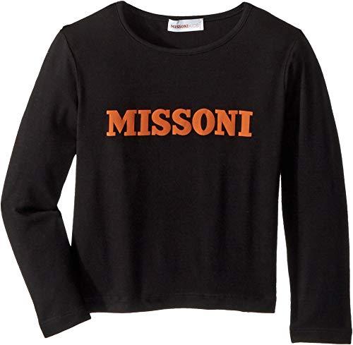 (Missoni Kids Baby Girl's Printed Logo T-Shirt (Toddler/Little Kids) Black 4 US Toddler)
