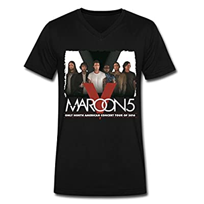 OG Maroon 5 2016 Tour Men's Black V Neck T Shirt
