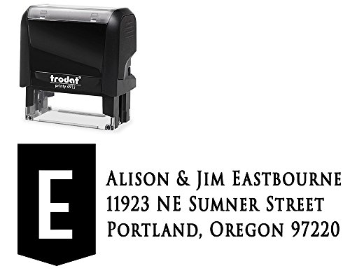 """Self-Inking Stamps Customized, Size 7/8"""" x 2 3/8"""", 3 Lines -"""
