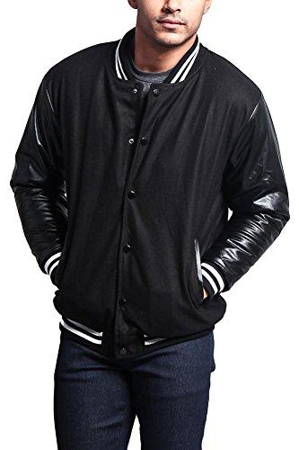 G-Style USA Letterman Varsity Jacket VJ100A - BLACK/BLACK - Varsity Jacket Soccer