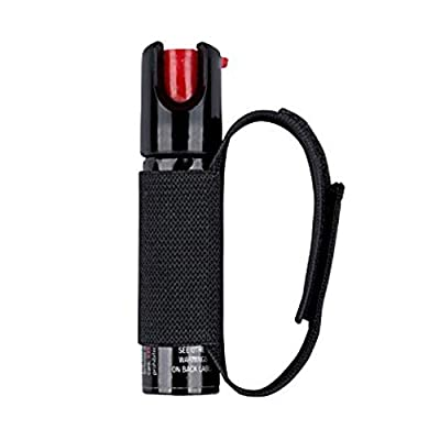 SABRE 3-in-1 Pepper Spray - - Advanced Police Strength - for Runners, Walkers, Joggers, Hikers, etc. with Adjustable Hand Strap, 35 Bursts & 10-Foot (3M) Range