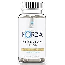 FORZA Psyllium Husk Capsules - 100% Pure & Natural Fibre - 540 Capsules