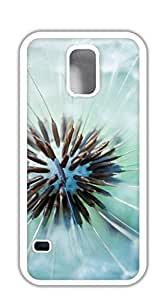 TUTU158600 Back Cover Case Personalized Customized Diy Gifts In A case for samsung galaxy s5 for girls - Dandelion silver
