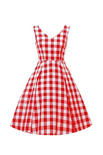 LUOUSE-Women-Vintage-V-Neck-50s-60s-Swing-Party-Cocktail-Dresses