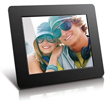 aluratek adpf08sf 8 inch digital photo frame black - Electronic Picture Frame