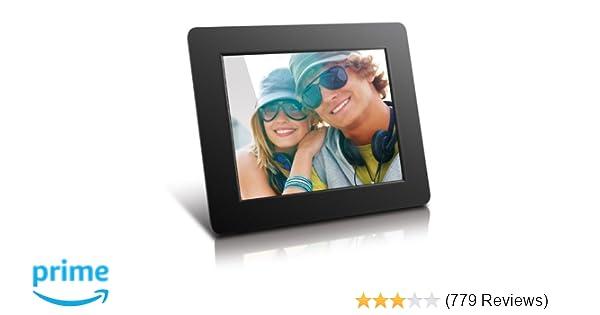 Amazon.com : Aluratek (ADPF08SF) 8 Inch Digital Photo Frame - Black ...