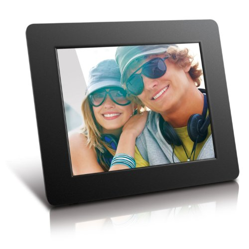 Aluratek 8 Inch LCD Digital Photo Frame USB SD/SDHC with Built-in Clock and Calendar (ADPF08SF) - Black from Aluratek