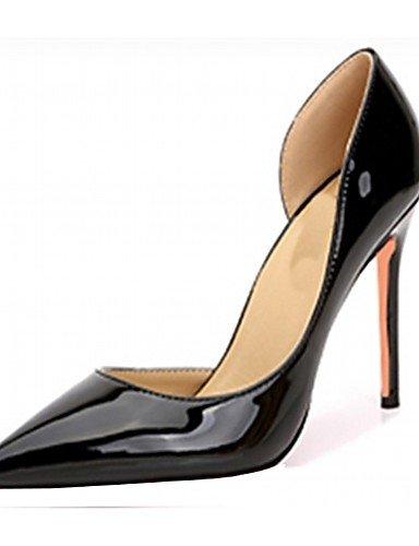 ZQ Zapatos de mujer-Tac¨®n Stiletto-Tacones-Tacones-Boda / Oficina y Trabajo / Vestido / Casual / Fiesta y Noche-Cuero Patentado / Microfibra- , blue-us3.5 / eu33 / uk1.5 / cn32 , blue-us3.5 / eu33 / black-us10.5 / eu42 / uk8.5 / cn43