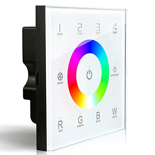 LEDENET DX8 RGBW Wireless 2.4GHz DMX512 Console Master Touch Panel RF Dimmer Controller Wall-mounted 4 zones Control RGB RGBW RGBWW LED Strip Lights Panel ()
