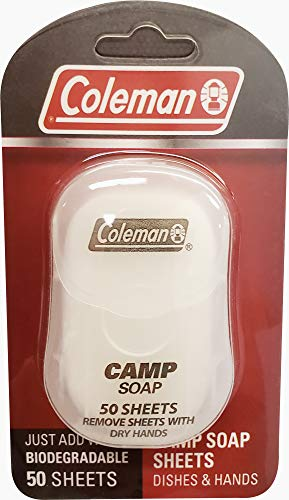 Coleman Camp Soap Sheets for Dishes and Hands, 50