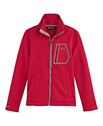 Under Armour Boys' Extreme ColdGear FZ Jacket Red / Steel Small
