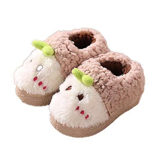 Shoes Cartoon Toddler Baby Indoor Slippers 4 Luobote Winter Sprout Khaki Warm Girls Boys wdYxqXvS
