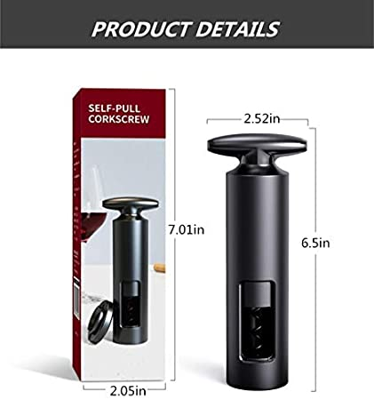 U/D Abridor Manual De Sacacorchos para Vino, Sacacorchos Giratorio Reutilizable para Vino Tinto, para Cualquier Tipo De Corcho