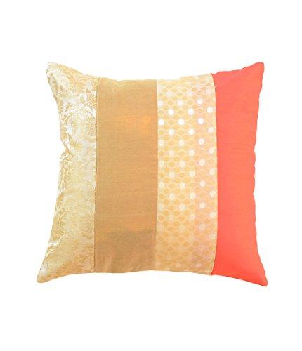 meSleep Brocade Dupion Silk Cushion Covers Drawing Room Square Shape Throw Pillow Case Zipper Cushions 12