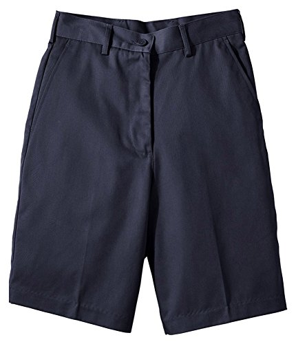 [Edwards Women's Utility Flat Front Short 9/9.5 Inches Inseam, NAVY, 18W] (Misses Flat Front Shorts)