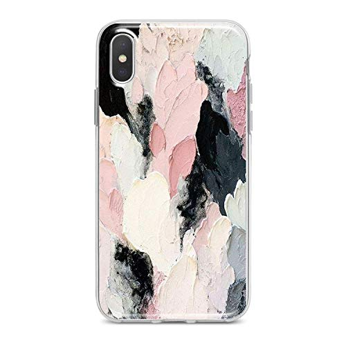 Lex Altern iPhone Apple TPU Case Xs Max Xr 10 X 8 Plus 7 6s 6 SE 5s 5 Clear Poetic Acrylic Phone Pink Cover Black Abstract Print Pattern White Paint Protective Soft Design Modern Flex Woman Silicone