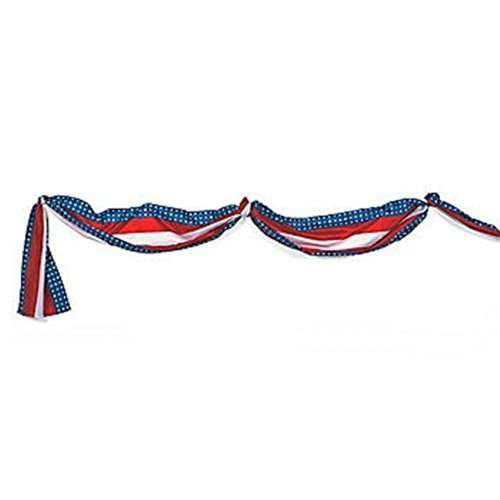 1 4th of July Decor PATRIOTIC AMERICAN Party Deck Porch Balcony BUNTING 20 ft