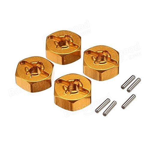 RC Toys & Hobbies RC Car Parts - Upgrade Metal Adapter 7mm To 12mm A959-B A979-B A969 A969 A969 K929 RC Car Parts - Gold - 4 x Adapter (With Pins) -  DOM ST
