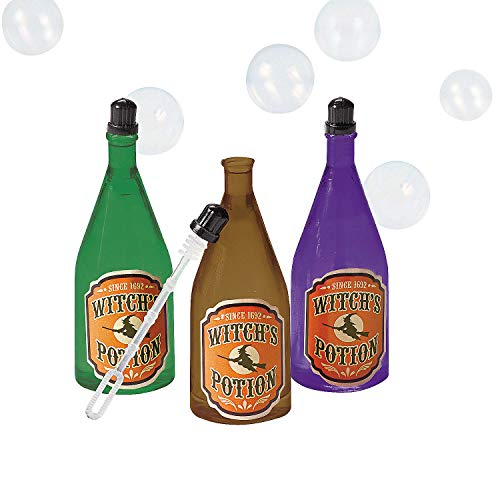 Halloween Witch Potions (Fun Express - Witches Potion Bubbles for Halloween - Toys - Bubbles - Bubble Bottles - Halloween - 12)