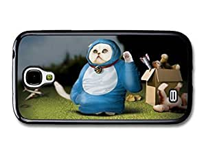 AMAF ? Accessories Funny Cosmic Cat In A Blue Costume case for Samsung Galaxy S4
