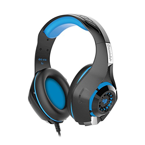 Cosmic Byte GS410 Headphones with Mic and for PS4, Xbox One, Laptop, PC, iPhone and Android Phones (Black/Blue) 5