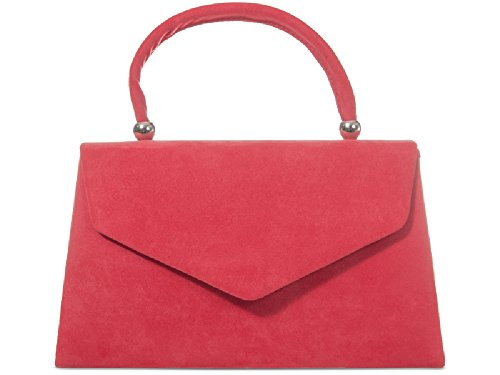 Bag Coral Suede KW304 Clutch Box Structured Bag Evening Party Ladies Women's Purse Handbag wSOqn4Yx7