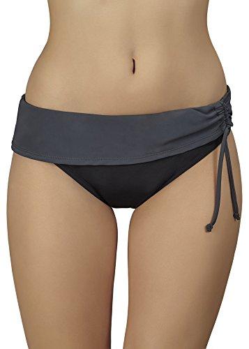 Merry Style Shorts de Ba?o para Mujer Modelo Steffi Negro/Grafito (9154)