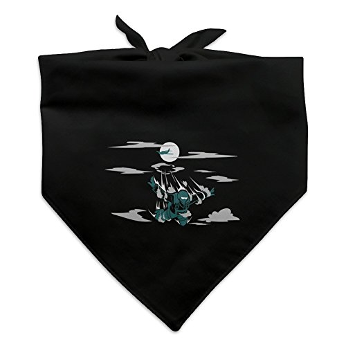 (Graphics and More Skydiver Skydiving Out of Plane Dog Pet Bandana - Black)