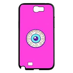 Custom Protective Hard Plastic Case with Eyeball for Samsung Galaxy Note 2 N7100 at Hushell