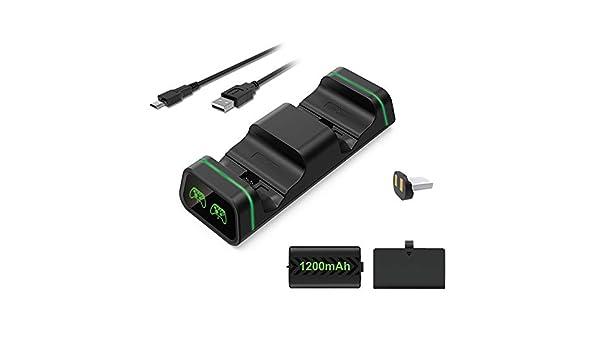 MYAMIA Dobe Tyx-19058 Cargador Dual Estación De Carga Base De Soporte Cuna para Xbox One/X/S Controlador De Juegos con Adaptador De Batería: Amazon.es: Hogar