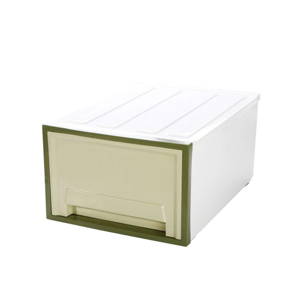 MYQ 収納ボックス 収納ボックス、家庭用収納ボックスプラスチック厚い収納ボックス衣類収納ボックス引き出し収納ボックス 化粧品収納ボックス (色 : 緑) B07QM6RT5Q 緑