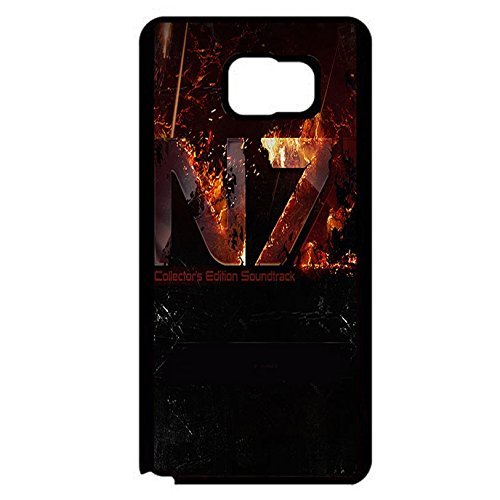 Coque Samsung Galaxy Note 5 N7 Unique Design Cover Shell Prime Creative Fire Pattern RPG Game Mass Effect N7 Logo Design Phone Case Cover for Coque Samsung Galaxy Note 5,Cas De Téléphone