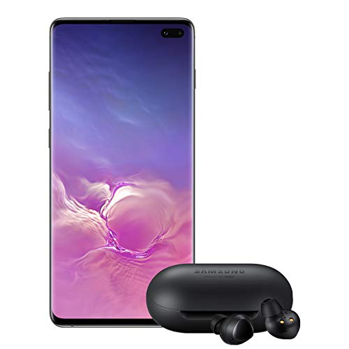 Samsung Galaxy S10+ Plus Factory Unlocked Phone with 512GB (U.S. Warranty), Ceramic Black w/Galaxy Buds