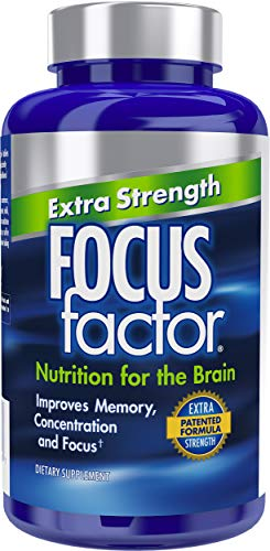 Focus Factor Extra Strength - Memory, Concentration & Focus - DMAE, Vitamin D, DHA, Bacopa & Much More - Trusted Clinically Tested Brain Health Supplement (120 Count) (Factor 6)