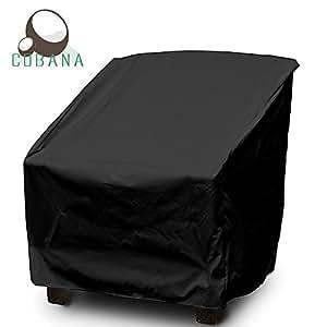 COBANA Juego de muebles de jardín silla de salón silla pantalla 31(L) x27.5(W) X40/27,5(H) resistente al agua