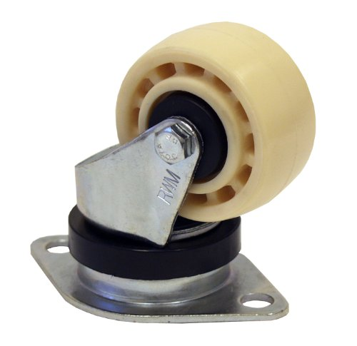 Hytrel Balls - RWM Casters CargoMax Plate Caster, Swivel, Thread Guard, Foot Guard, Hytrel Urethane Wheel, Ball Bearing, 500 lbs Capacity, 2-3/4